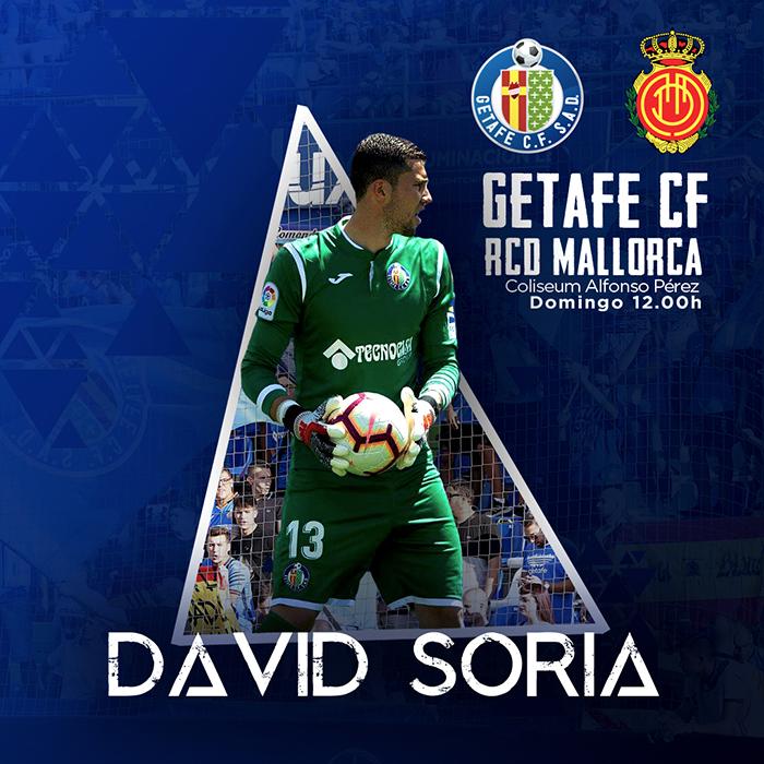 David Soria, portero del Getafe CF